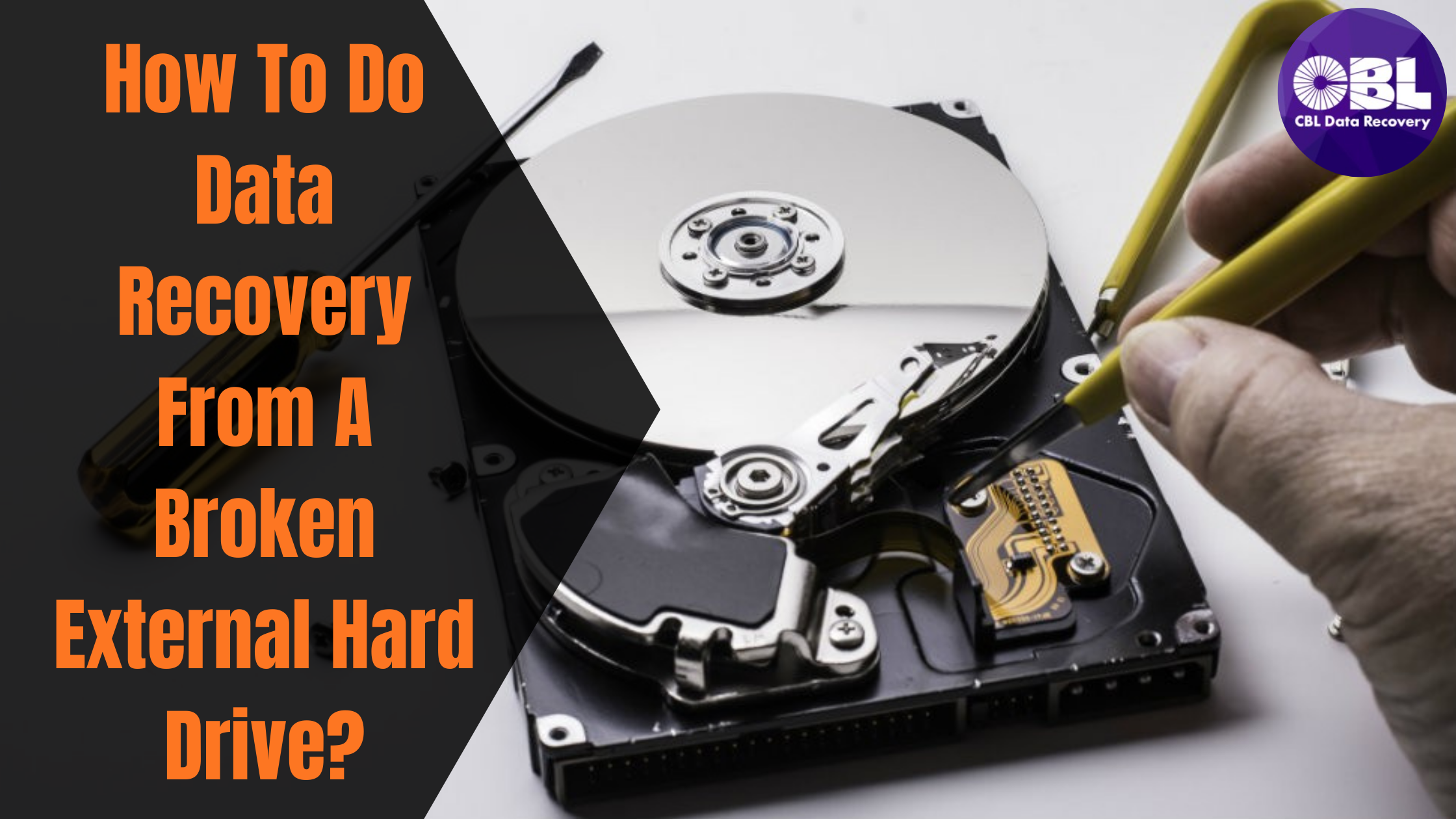 How To Do Data Recovery From A Broken External Hard Drive?